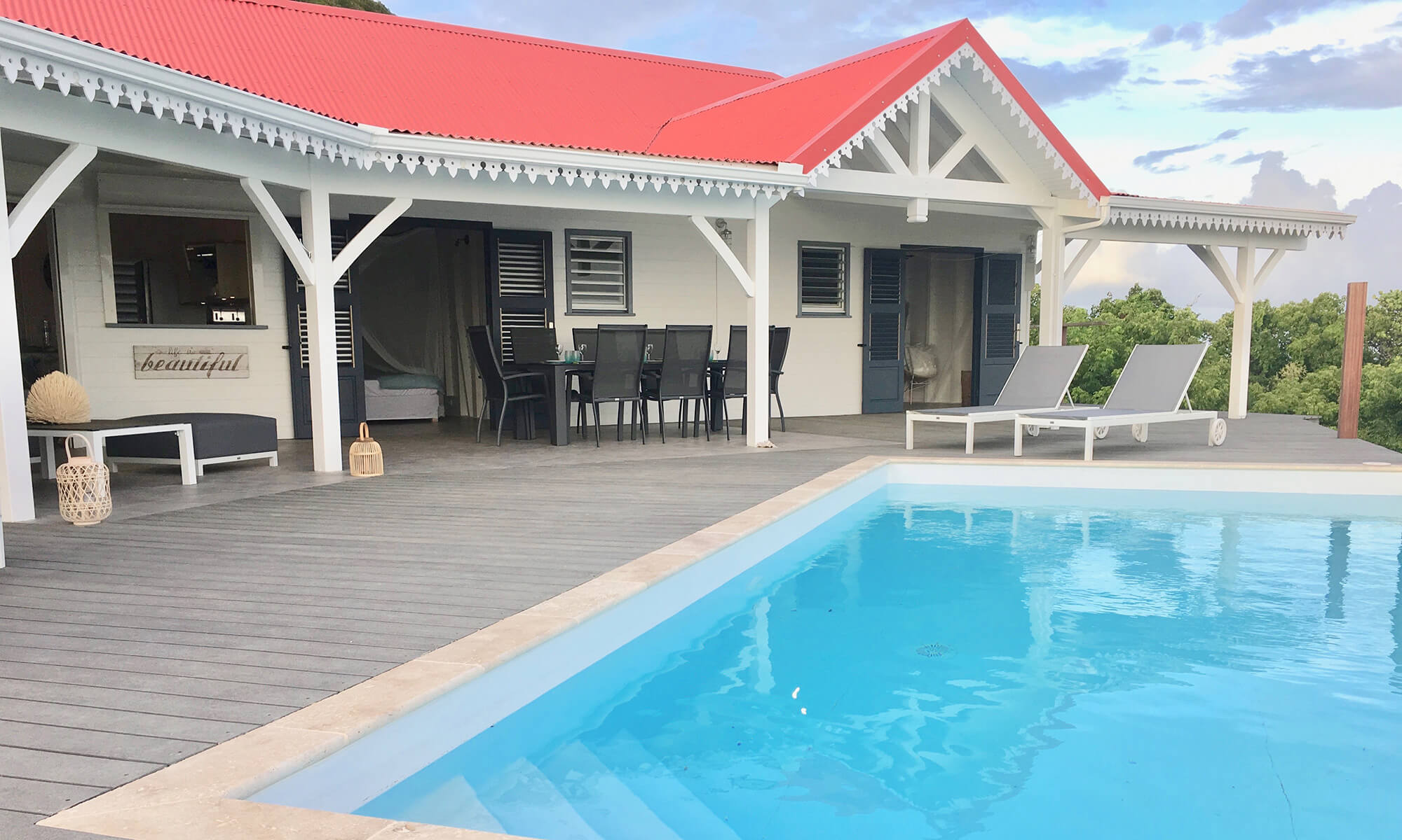 Marie Galante villa pool