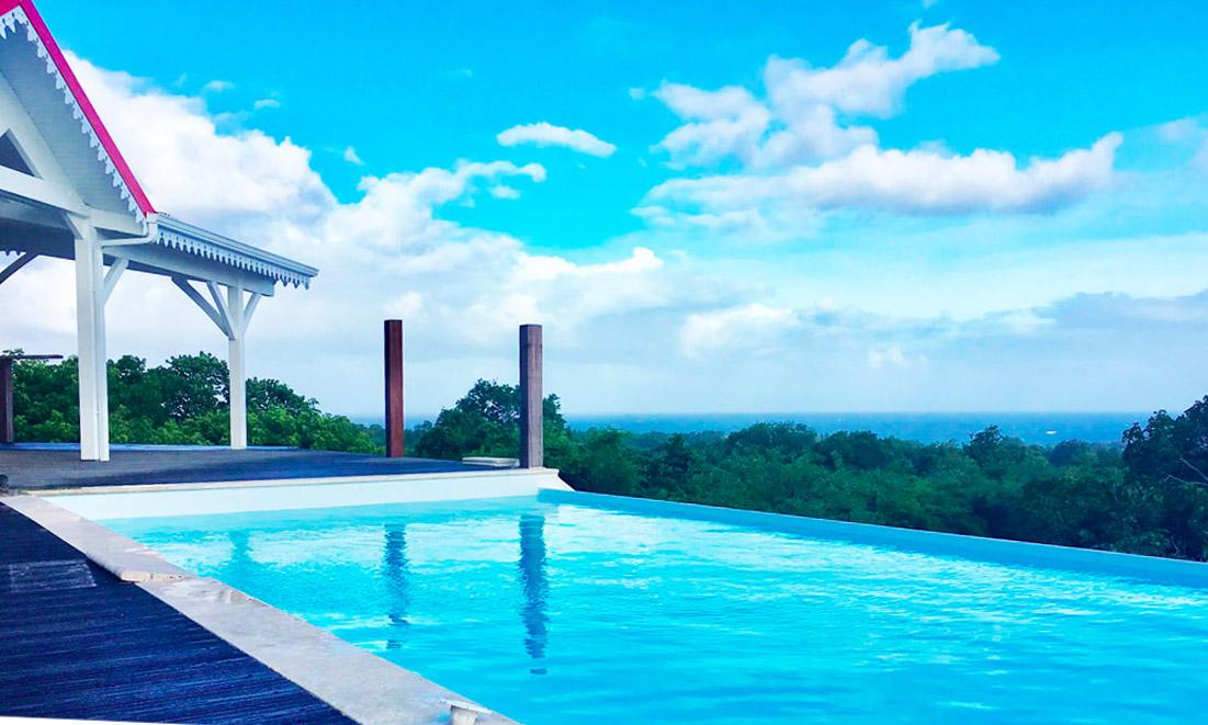 Marie Galante villa piscine